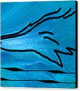Deep Blue Canvas Print by Ben and Raisa Gertsberg