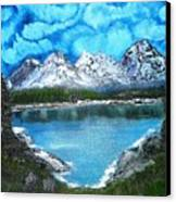 Deep Mountain Lake Canvas Print