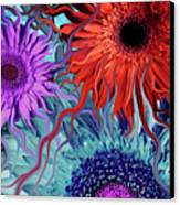 Deep Water Daisy Dance Canvas Print