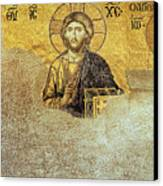 Deesis Mosaic Hagia Sophia-christ Pantocrator-judgement Day Canvas Print