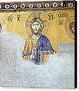 Deesis Mosaic Of Jesus Christ Canvas Print