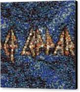 Def Leppard Albums Mosaic Canvas Print by Paul Van Scott