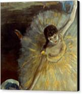 Degas: Arabesque, 1876-77 Canvas Print by Granger
