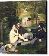 Dejeuner Sur L Herbe Canvas Print by Edouard Manet