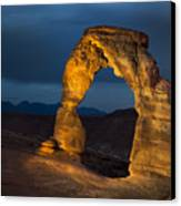 Delicate Arch At Night Canvas Print by Adam Romanowicz