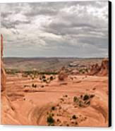 Delicate Arch Panoramic Canvas Print by Adam Romanowicz
