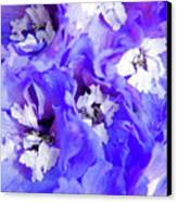 Delphinium Flowers Canvas Print