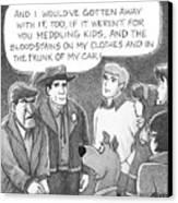 Delusional Criminal Canvas Print