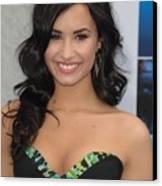 Demi Lovato Wearing A Bcbg Max Azria Canvas Print by Everett