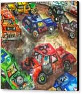Demo Derby One Canvas Print by Jame Hayes