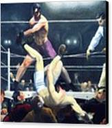 Dempsey And Firpo Canvas Print by Pg Reproductions