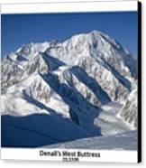 Denali West Buttress Canvas Print