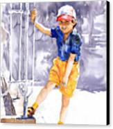 Denis 02 Canvas Print by Yuriy  Shevchuk