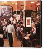 Dentro Il Caffe Canvas Print by Guido Borelli
