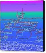 Departing Ferry Canvas Print by Tim Allen