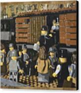 Deportation From Warsaw To Treblinka July 22 1942 Canvas Print by Josh Bernstein