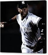 Derek Jeter Canvas Print by Paul Ward