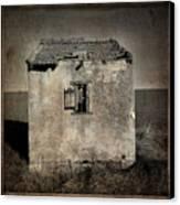 Derelict Hut  Textured Canvas Print by Bernard Jaubert