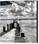 Derelict Wharf Canvas Print by Avalon Fine Art Photography