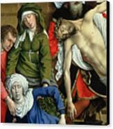 Descent From The Cross Canvas Print by Rogier van der Weyden