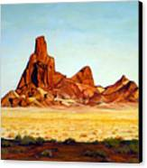Desert Buttes Canvas Print by Evelyne Boynton Grierson