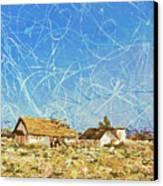 Desert Houses Canvas Print