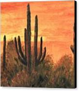Desert Sunset I Canvas Print
