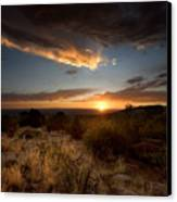 Desert Sunset Canvas Print by Matt Tilghman