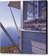 Desolation Peak Fire Lookout Cabin Sign Canvas Print by David Pluth