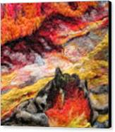 Detail Of Fire Canvas Print