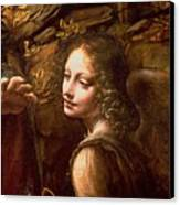 Detail Of The Angel From The Virgin Of The Rocks  Canvas Print by Leonardo Da Vinci