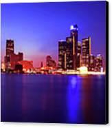 Detroit Skyline 3 Canvas Print by Gordon Dean II