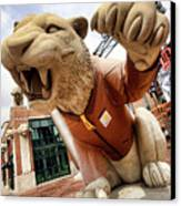 Detroit Tigers Tiger Statue Outside Of Comerica Park Detroit Michigan Canvas Print by Gordon Dean II