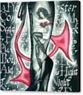 Devilicious Boot Canvas Print