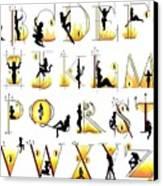 Devilish Alphabet Canvas Print