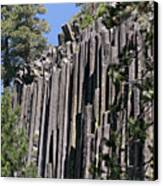 Devils Postpile National Monument - Mammoth Lakes - East California Canvas Print by Christine Till