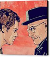 Dexter And Walter Canvas Print by Giuseppe Cristiano