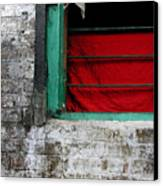 Dharamsala Window Canvas Print