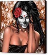 Dia De Los Muertos Remix Canvas Print by Pete Tapang
