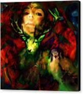 Dianas Blood Moon Canvas Print
