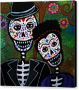 Diego Rivera And Frida Kahlo Canvas Print