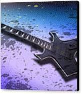Digital-art E-guitar II Canvas Print by Melanie Viola