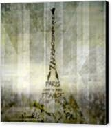 Digital-art Paris Eiffel Tower Geometric Mix No.1 Canvas Print by Melanie Viola