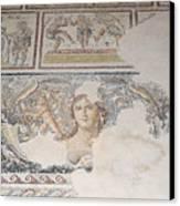 Dionysus Mosaic Mona Lisa Of The Galilee Canvas Print