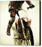 Dirt Bike Rider Canvas Print by Thorpeland Photography