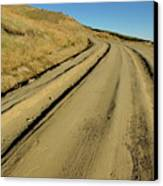 Dirt Road Winding Canvas Print by Sami Sarkis