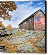 Display Of Colors - Roxbury Barn  Canvas Print by Thomas Schoeller