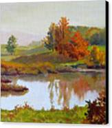 Distant Maples Canvas Print