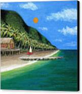 Distant Shores Canvas Print by Gordon Beck