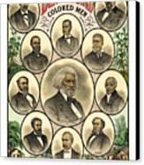 Distinguished Colored Men   1883 Canvas Print by Daniel Hagerman